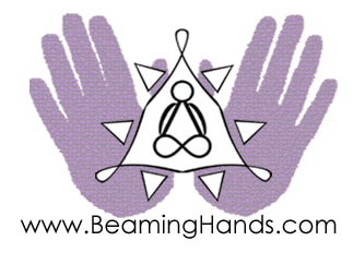 Beaming Hands. Reiki Healing.